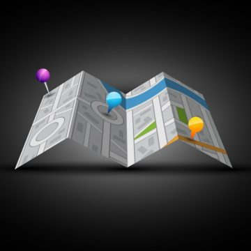 Free vector 3d city map with pins #16290