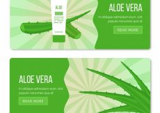 Free vector Abstract banners with aloe vera product #16350