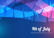 Free vector Abstract blue design for independence day #17861
