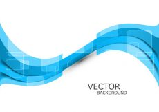 Free vector Abstract Blue Wave #17465