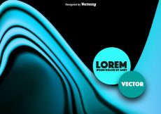 Free vector Abstract Blue Wave Vector #18142