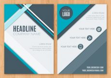 Free vector Abstract business brochure #12875