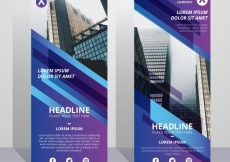Free vector Abstract business roll up with colored forms #13846