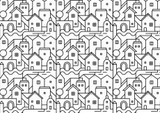 Free vector Abstract city pattern background #15638