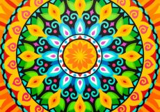 Free vector Abstract colorful mandala background #13219