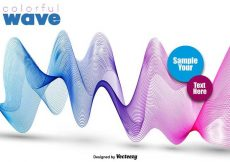 Free vector Abstract Colorful Pink And Blue Wave – Vector #13328