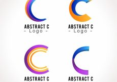 Free vector Abstract logo letter c template collection #17718
