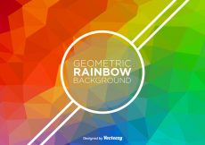 Free vector Abstract Rainbow Vector Background #18359