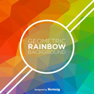 Free vector Abstract Rainbow Vector Background #18008