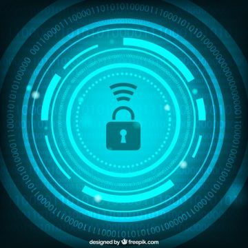 Free vector Abstract security background with numbers and padlock #16035