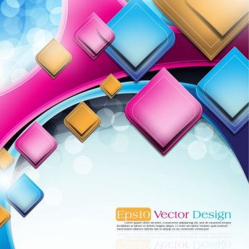 Free vector abstract vector background object 03 #16075
