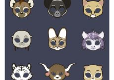 Free vector Animal mask collection #15109