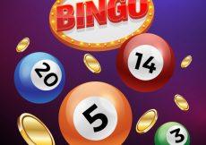 Free vector Background of bingo balls with coins #13938