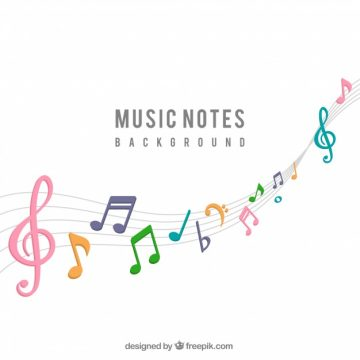 Free vector Background of colorful musical notes #15075