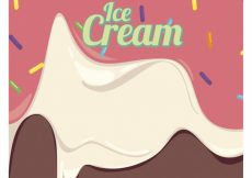 Free vector Background of delicious melted ice cream #16406