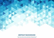Free vector Background of white and blue triangles #12741