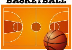 Free vector Ball on the basketball court background #12607