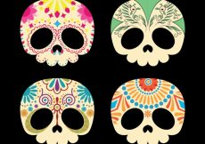 Free vector Beautiful mexican skull collection #15785