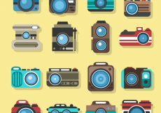 Free vector Big lens camera collection #17971
