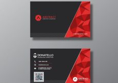 Free vector Black and red business card #16829