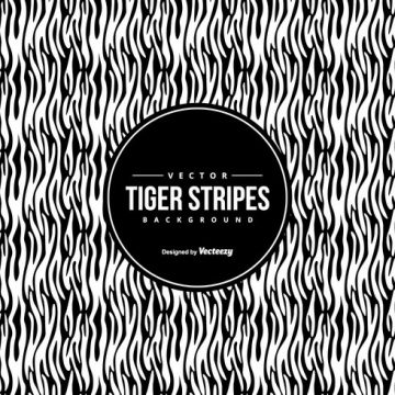 Free vector Black/White Tiger Pattern Background #14908