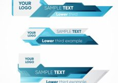 Free vector Blue abstract lower thirds #12771