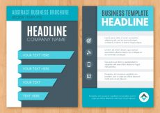 Free vector Blue business brochure #12871