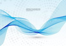 Free vector Blue Wave On Dotted Background #18197