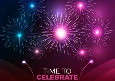 Free vector Bright background with fireworks #18379