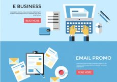 Free vector Business and email banner #18286