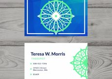 Free vector Business card with geometric shape #16569