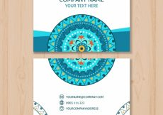 Free vector Business card with mandala #17099