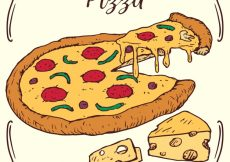 Free vector Cheese pizza background #17667