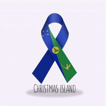 Free vector Christmas island flag ribbon design #14359