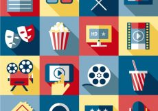 Free vector Cinema elements collection #18318