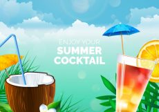 Free vector Cocktail background in realistic style #17746