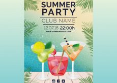 Free vector Cocktail party poster #18463