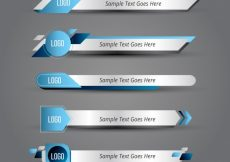 Free vector Collection of abstract lower third #12459