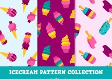 Free vector Collection of decorative ice cream patterns #17867