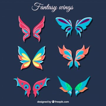 Free vector Collection of fantastic butterfly wings #14507