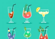 Free vector Collection of hand-drawn cocktail #18160