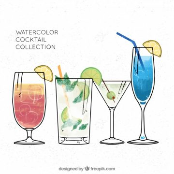 Free vector Collection of refreshing cocktails #18210