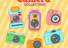 Free vector Colorful cameras collection #17989