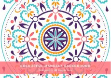 Free vector Colorful floral mandala background #13223