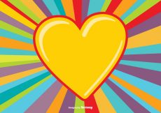 Free vector Colorful Heart Burst Background #14049