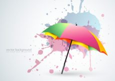 Free vector Colorful umbrella background #16278