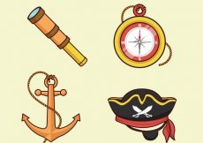 Free vector Compass and other hand drawn items #15503