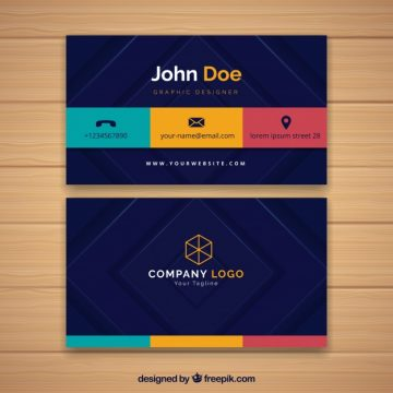 Free vector Corporate card with colors #17127