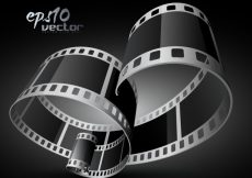 Free vector Curved realistic 3d film reel #18683