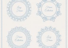 Free vector Cute lace frames for decoration #18801